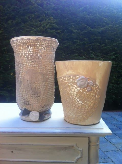 Shabby chic pots. Look all my works ,before and afters on doctorshabbychic.com