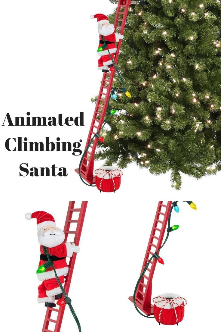 Want this animated climbing Santa for decorating my tree this ...