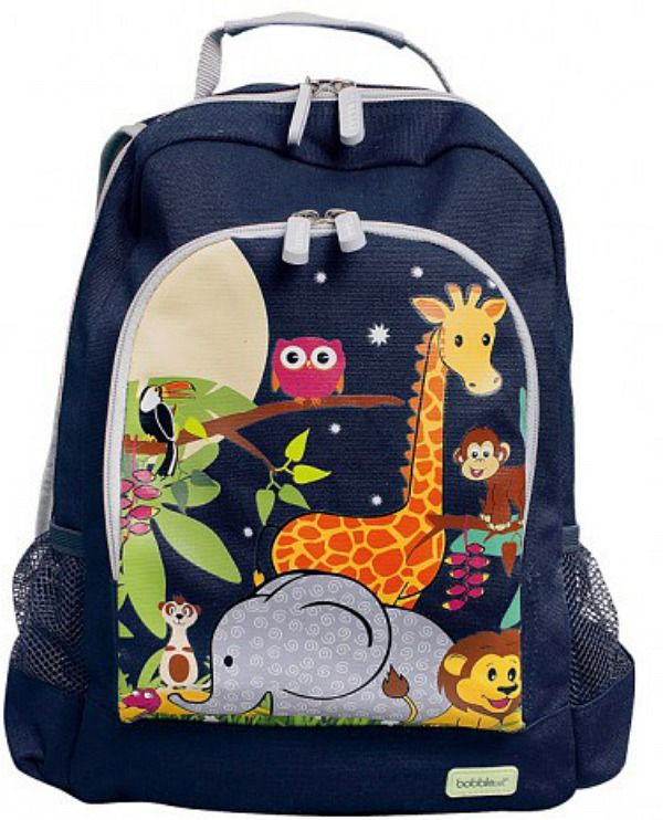 Canvas Backpack - Jungle. These gorgeous #BobbleArt #kidsbackpacks are perfect for a day out, pre-school or daycare.... big enough to fit all the necessities a little one needs.
