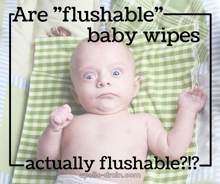 Are flushable baby wipes actually flushable?! Don't  believe what the label tells you! http://apollo-drain.com/are-flushable-baby-wipes-actually-flushable/