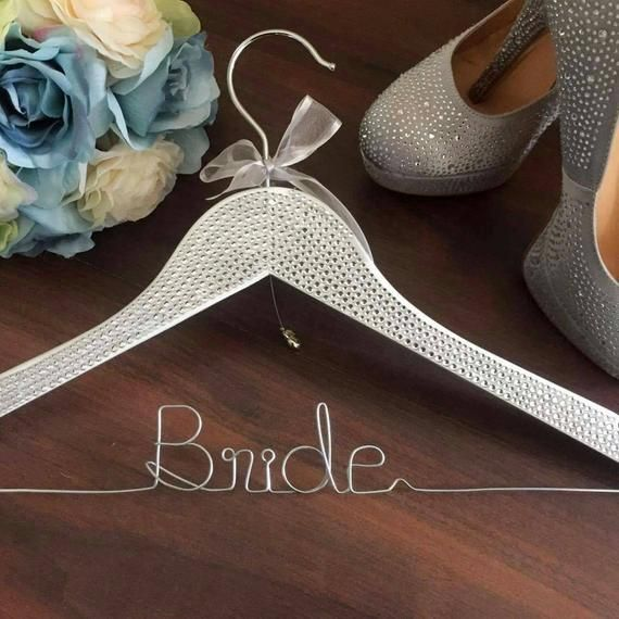 Designer Bride Coat Hanger Rhinestone Bride Hanger Gift For Bride