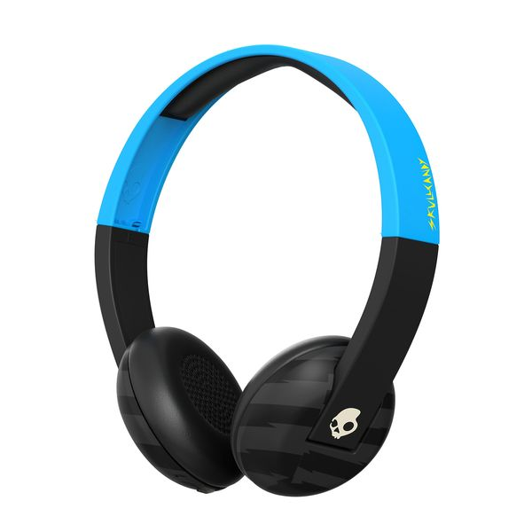 New Product! Great Price at OCB! SKULLCANDY UPROAR WIRELESS HEADPHONES: Enjoy all-day listening to Supreme Sound™ while you ditch the cord. The Uproar Wireless on-ear headphones use Bluetooth® functionality for on-board music control and have a built in mic, long lasting battery and comfortable ear pads.