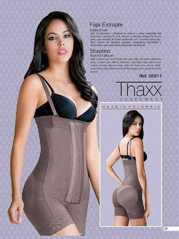 357e1d1449e95 Faja Moda Colombiana Thaxx - Ref. 119 -3097-1 Cocoa