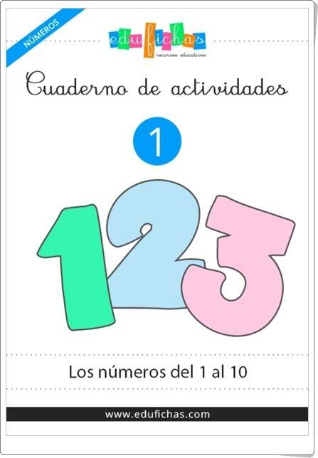 """Cuaderno de actividades 1: """"Los números del 1 al 10"""" (Caligrafía de Educación Infantil)"""
