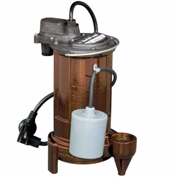 "Liberty Pumps 293 3/4 HP Automatic Sump / Effluent Pump w/ Piggyback Wide Angle Float Switch, 110V ~ 120V, 10"" cord"