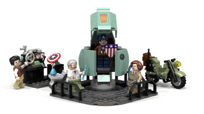 how to make lego captain america