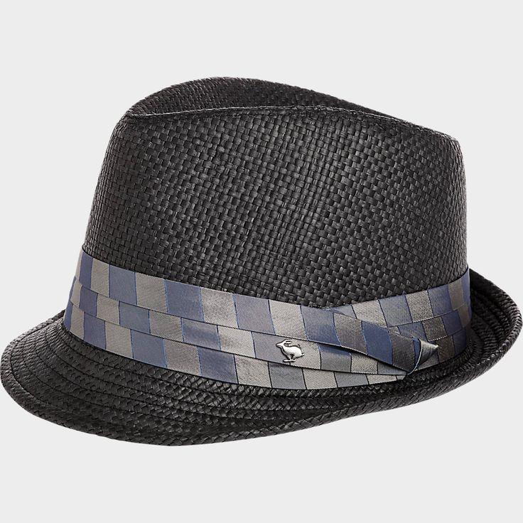 Peter Grimm Black Paper Fedora | Men's Wearhouse