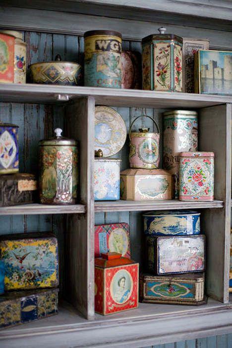 vintage tins #decor