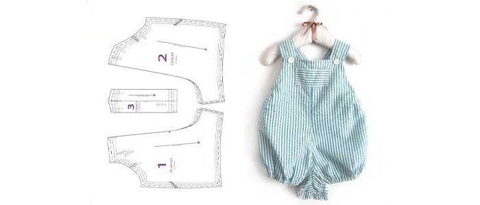 Patrón de peto de bebé para la confección de un peto de bebé DIY