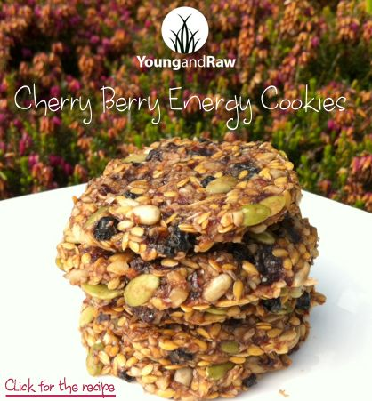 Cherry Berry Energy Cookies (raw + vegan)
