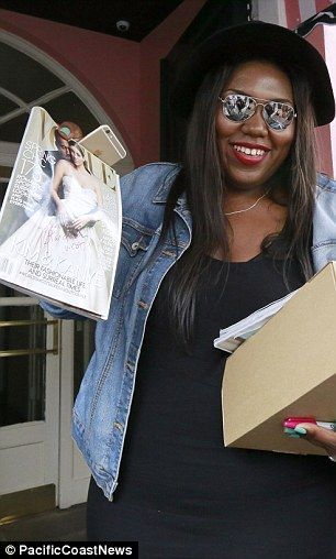 Besties: Kim treated her superfan with a pair of Adidas Air Yeezy Boost 350s and a couple ...