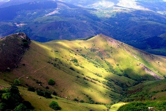 Le massif de la Rhune ~ French  Pyrénées near the Pays Basque