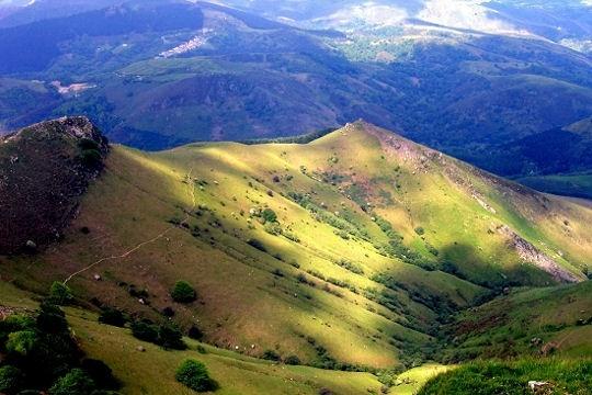 Le massif de la Rhune ~ French  Pyrénées near the Pays Basque