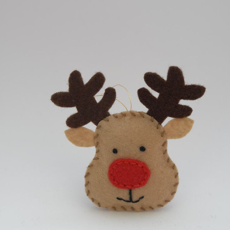 Reindeer in brown - reindeer, christmas decor, christmas gift, christmas decoration, cute, adorable. by HalloweenOrChristmas on Etsy