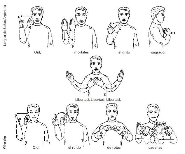 Hazlo una vez si sos argentino           El Himno Nacional en lenguaje de señas.
