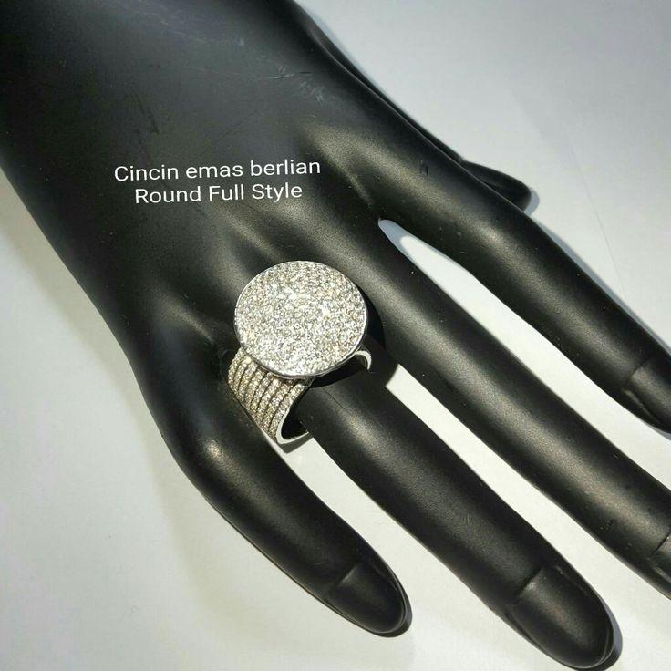New Arrival🗼. Cincin Emas Berlian Round Full Style💍💎.   🏪Toko Perhiasan Emas Berlian-Ammad 📲+6282113309088/5C50359F Cp.Dewi👩.  https://m.facebook.com/home.php  #investasi #diomond #gold #beauty #fashion #elegant #musthave #tokoperhiasanemasberlian