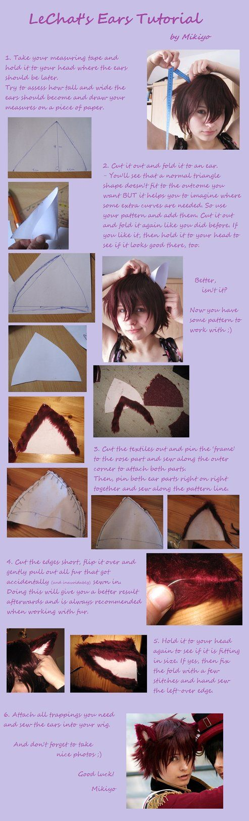 Tutorial LeChat's Ears by MikiyoOo by MikiyoOo on DeviantArt