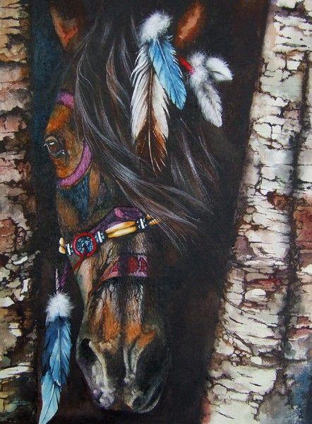 Emerging Spirit.  Peter Williams.  Watercolor