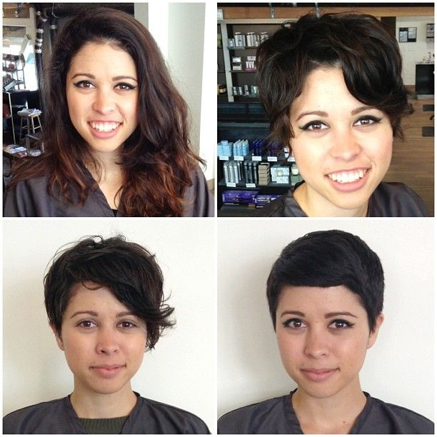 Long To Short Great Pixie Transformations Pinterest