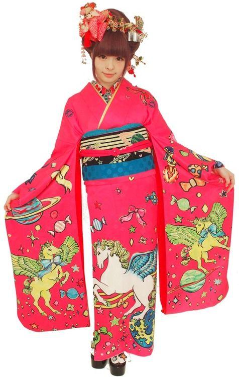 KPP in modern kimono print