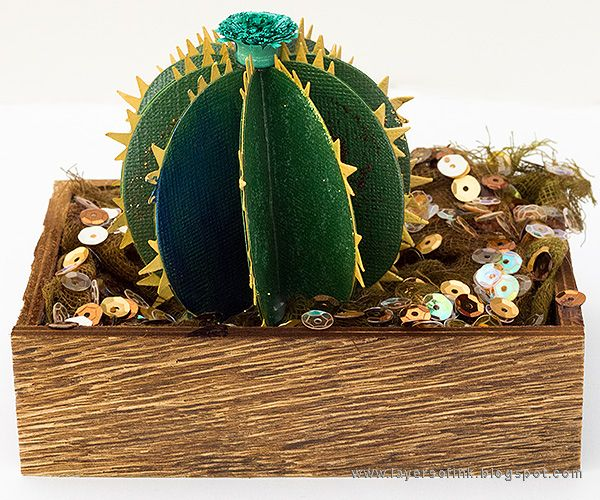 Layers of ink - Glittery Cactus . Made for the Simon Says Stamp Summer Vacation Kids Challenge, with Sizzix dies by Lynda Kanase and lots of Ranger Ink glitter and Stickles.