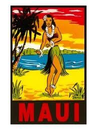 maui hula girl hawaii