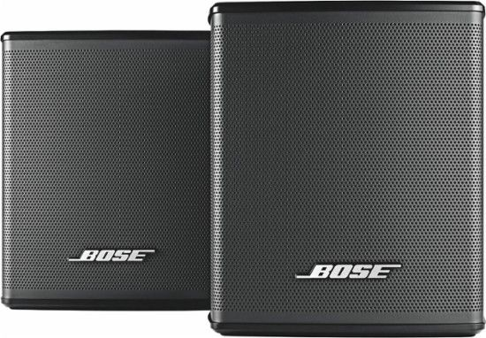 Bose® - Virtually Invisible® 300 wireless surround speakers - Black - Front_Zoom