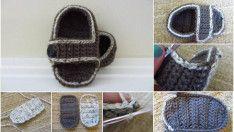 Erkek Bebek Sandalet Yapımı – Resimlerle Adım Adım Bebek Sandalet Yapımı
