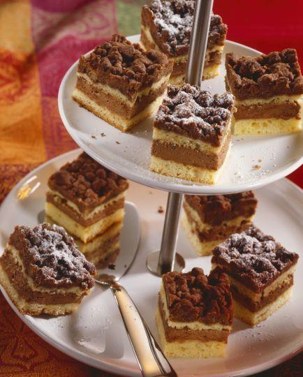 Rezy s čokoládovou posýpkou a nugátovým krémom | Recepty.sk