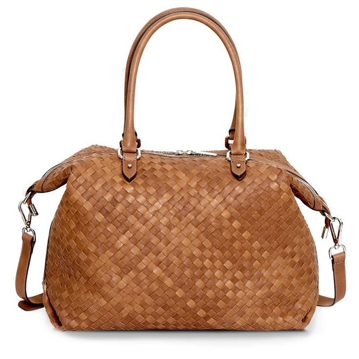 Decadent- 242 Woven Small Hold All Cognac