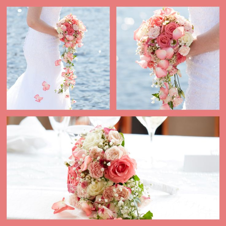 Bridal bouquet made in KukkaKaroliina, Finland.