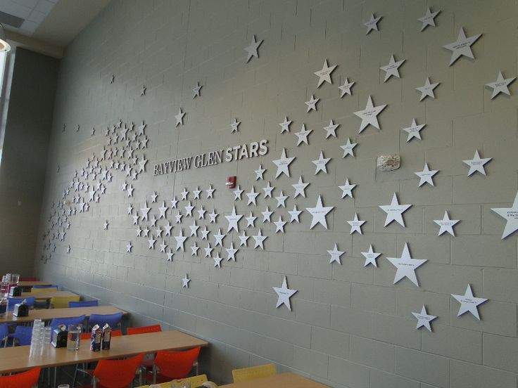Star Wall Decor Ideas: Star Themed Donor Recognition Walls