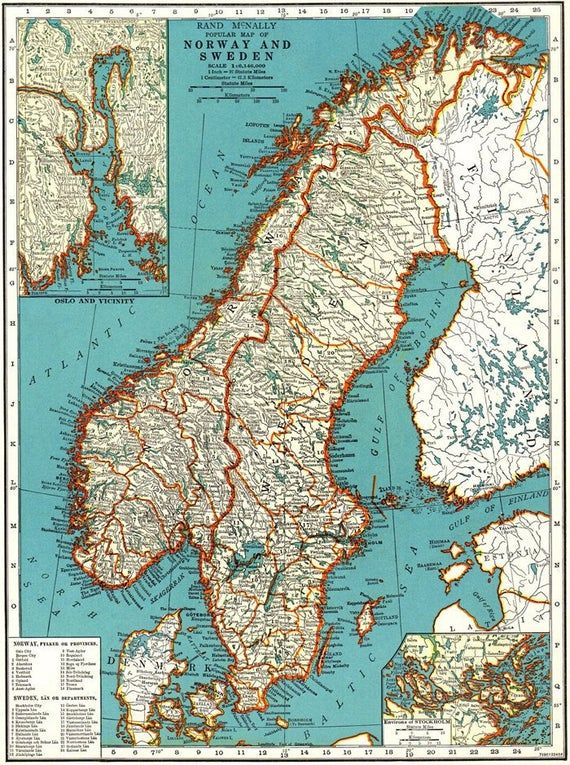 Vintage Sweden Norway And Denmark Map Digital Scandinavia Map Printable Antique Map Scandinavian Print Old Printable Map In 2020 Sweden Map Norway Map Denmark Map