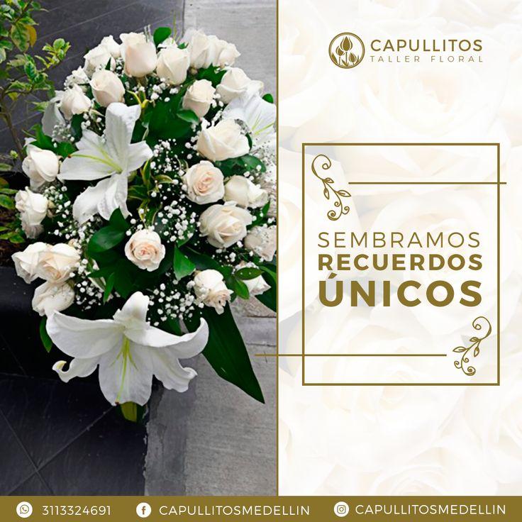 Arreglo floral para boda. Un matrimonio es más especial con el taller floral Capullitos. Medellín - Colombia.