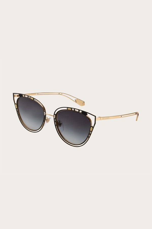104d112f88 Serpenti  Temptalicious  cat-eye metal frame with an openwork structure and  colorful details.