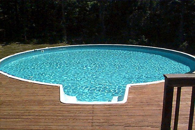 31 best pools images on pinterest portable pools for Above ground pool kits