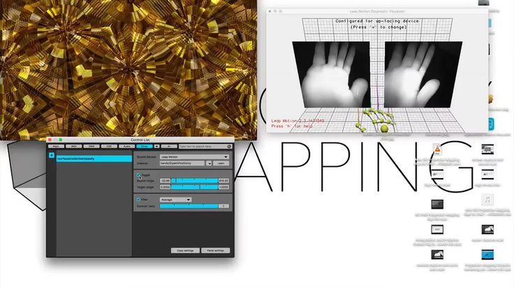 Projection mapping controller - using the Leapmotion senser with Madmapper on Vimeo