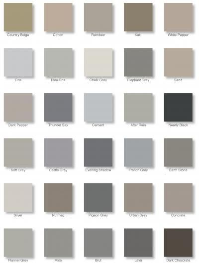 19 best images about masonry paint colours on pinterest Different colours of grey paint