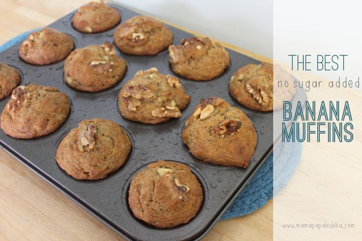 The Best {No Sugar Added} Banana Muffins - I made a GF version of these that everyone loved. Converted very well.