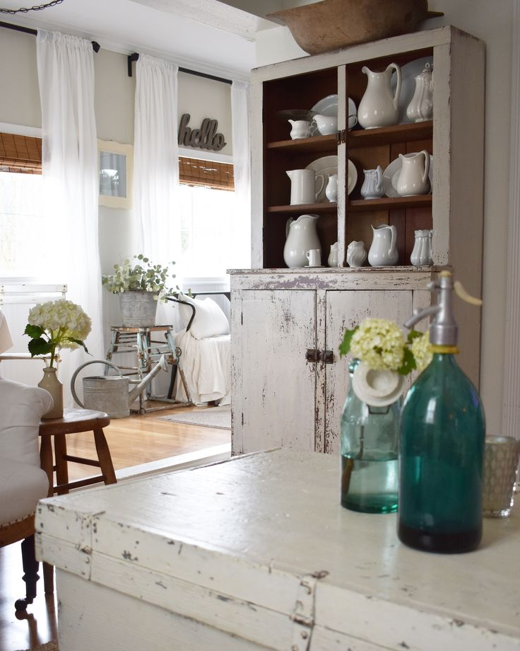 1596 best Whites images on Pinterest Farmhouse decor, Rustic and - küche vintage look