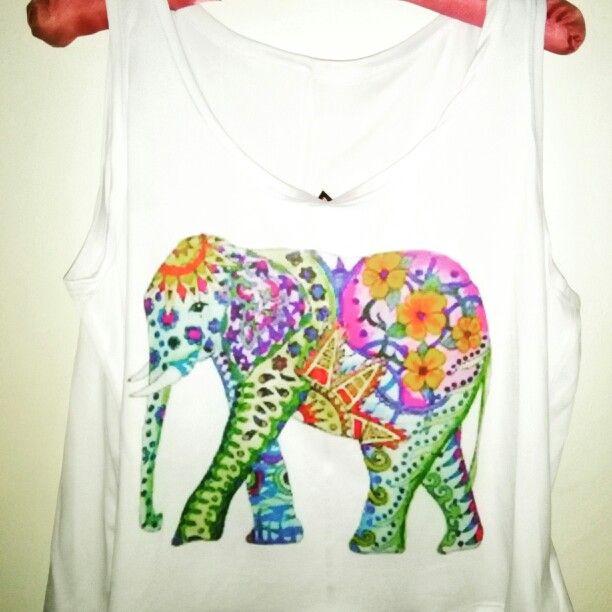 Crop top elefante