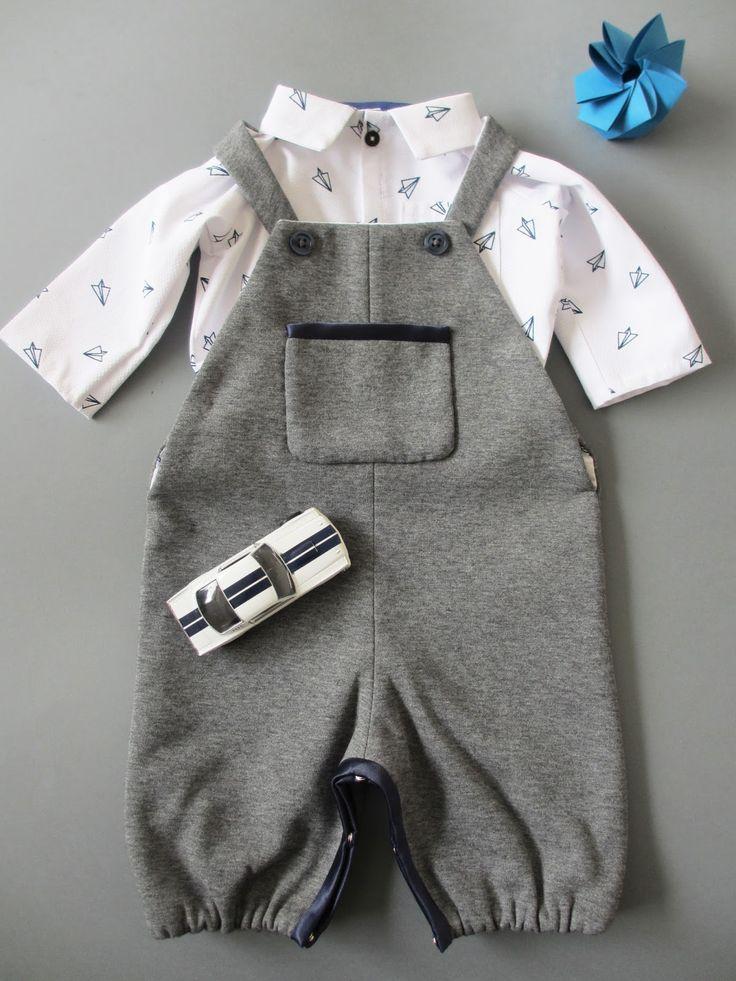 *Tadaam !: Chemise et salopette pour petit garçon