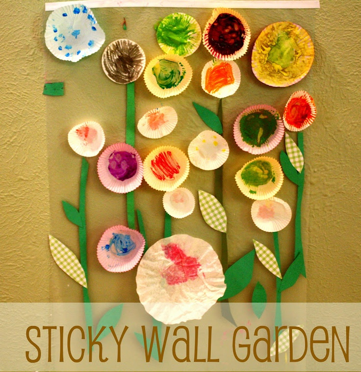 141 best kids art ideas collage images on pinterest for Garden crafts for preschoolers