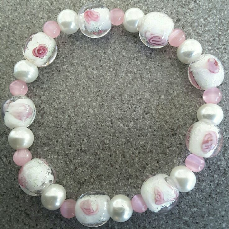 Hey, check out what I'm selling with Sello: Pretty pink and white bracelet http://twistedhazelbeautifulgifts.sello.com/shares/W29yv