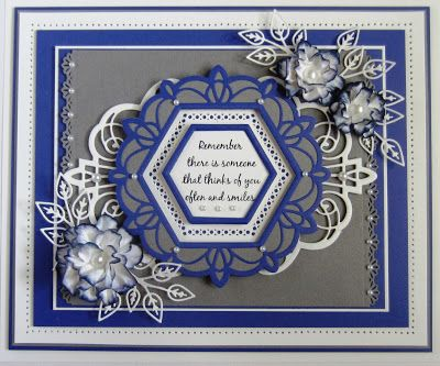 Hi crafters! Today's giveaway card is from one of my recent ODS show demos. I started with a piece of slate grey card  and used the s.... 28/12/2016