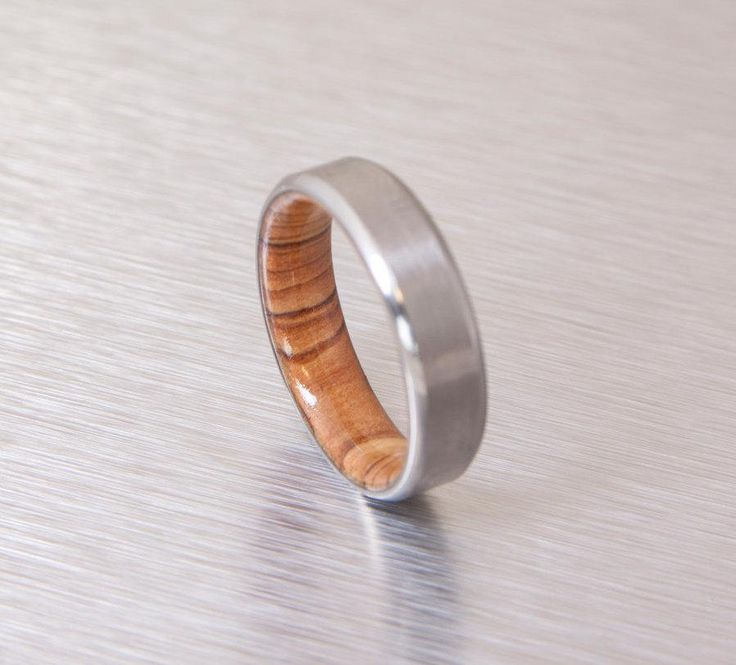 olive wood ring titanium band mens wedding wood ring Titanium and Olive Rings // Mens Wood Rings //wood Wedding Band //Men's wedding Band