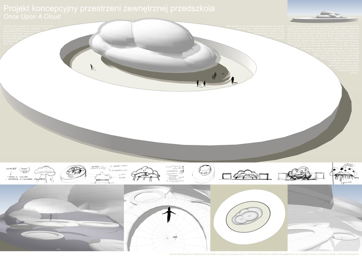 Once Upon A Cloud- the idea of kindergarten exterior - a cloud fulfilled with number of trampolines