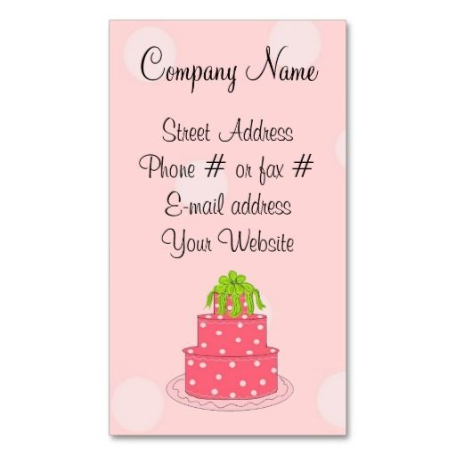 10 best tortush images on Pinterest Business cards, Cake - birthday cake card template
