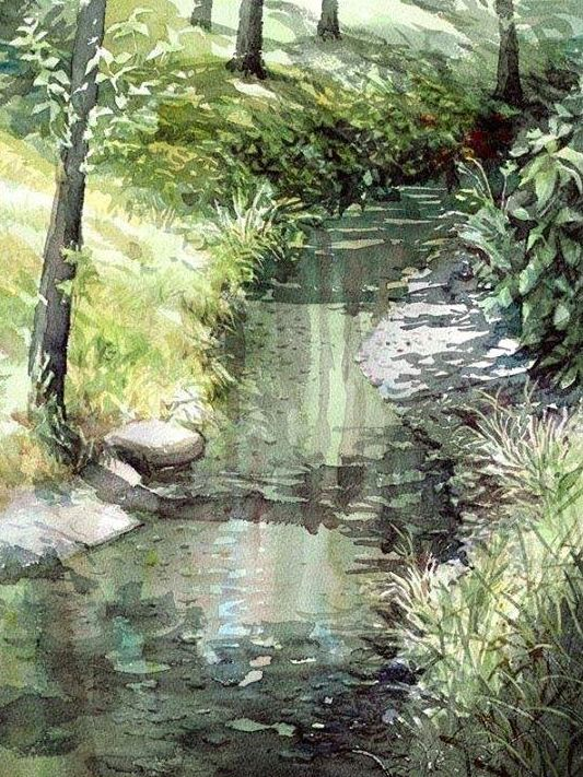 Watercolor by Takashi Akasaka , from Iryna