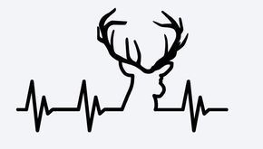 Deer Hunting Heartbeat - Vinyl Decal #deerhunting